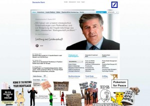 Occupying deutsche bank 300x212 Occupy the Internet