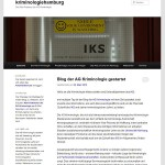 Screenshot der Homepage der AG Kriminologie Hamburg